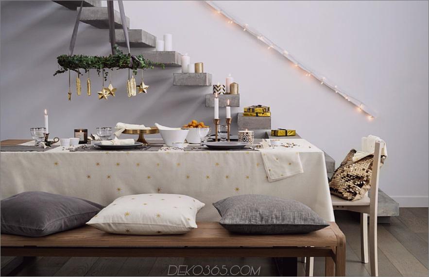 Weihnachtstischlandschaft 900x581 Moderne Weihnachtsdekor-Ideen sind alle Stil und Chic