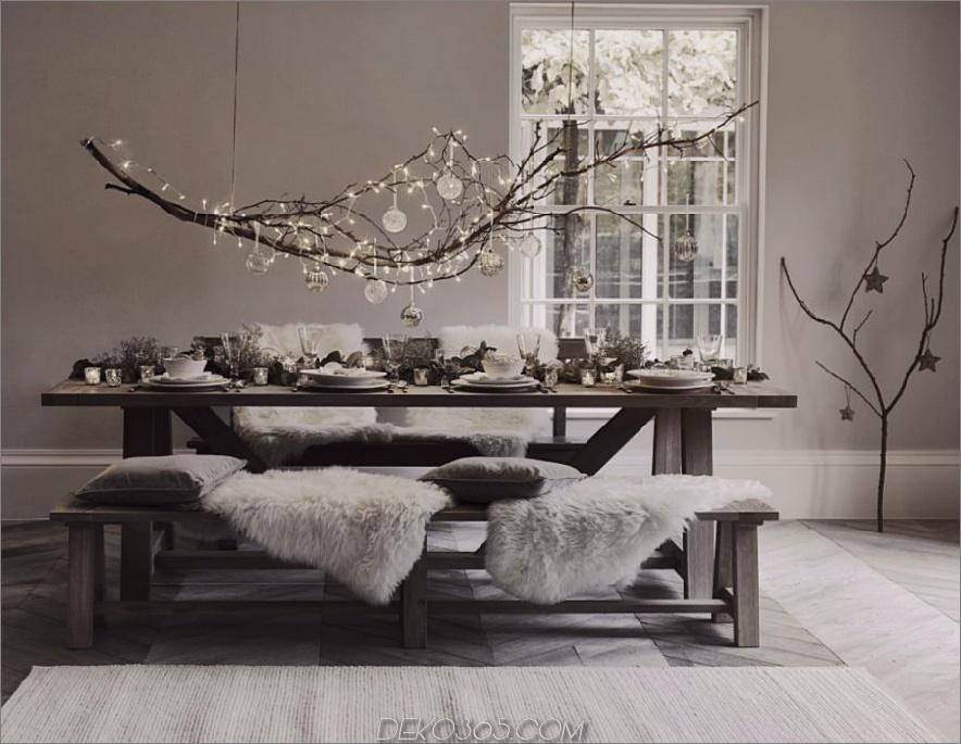Moderne Weihnachtstischdekoration
