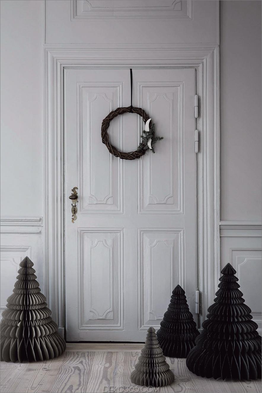 Schwarzes Papier Weihnachtsbäume