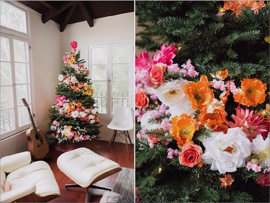 Blumenweihnachtsdekor