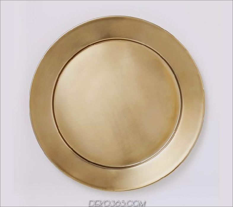 Metall-Ladegerät Gold Modernes Geschirr, das jede Mahlzeit zu einem Fest machen wird