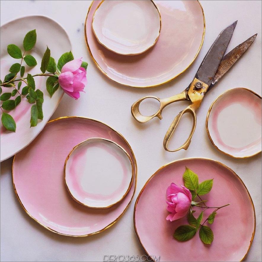 Rosa Ringplatte
