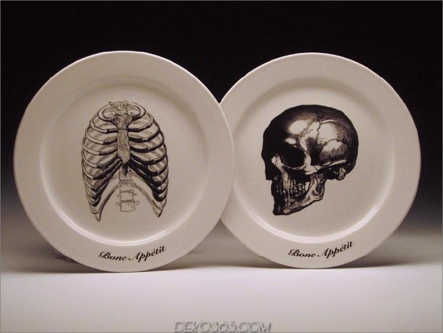 Knochen-Knochen-Appetit Teller