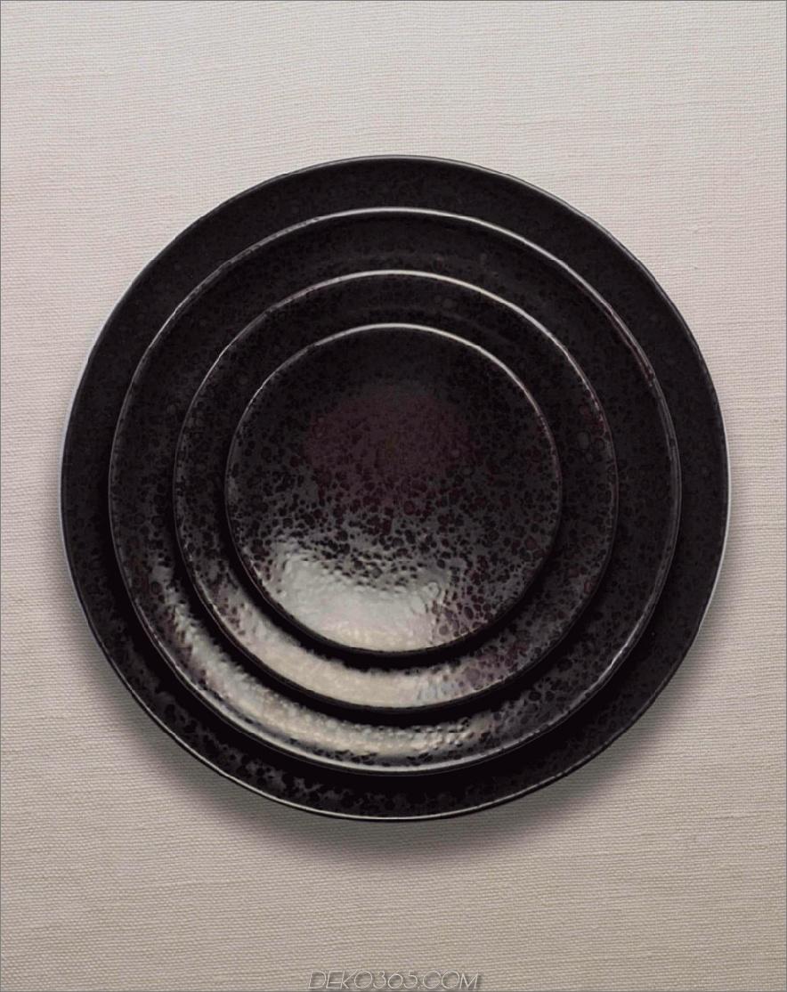 Alchimie schwarze Geschirrkollektion