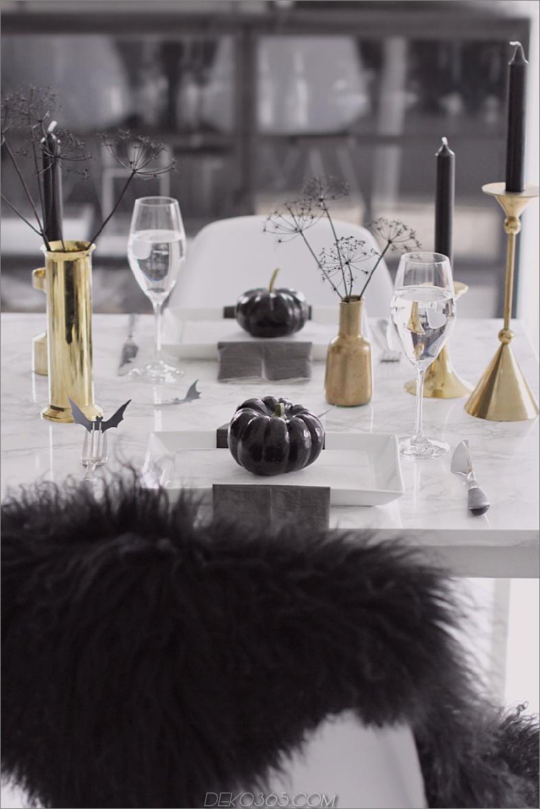 Nobler Halloween-Tischdekor