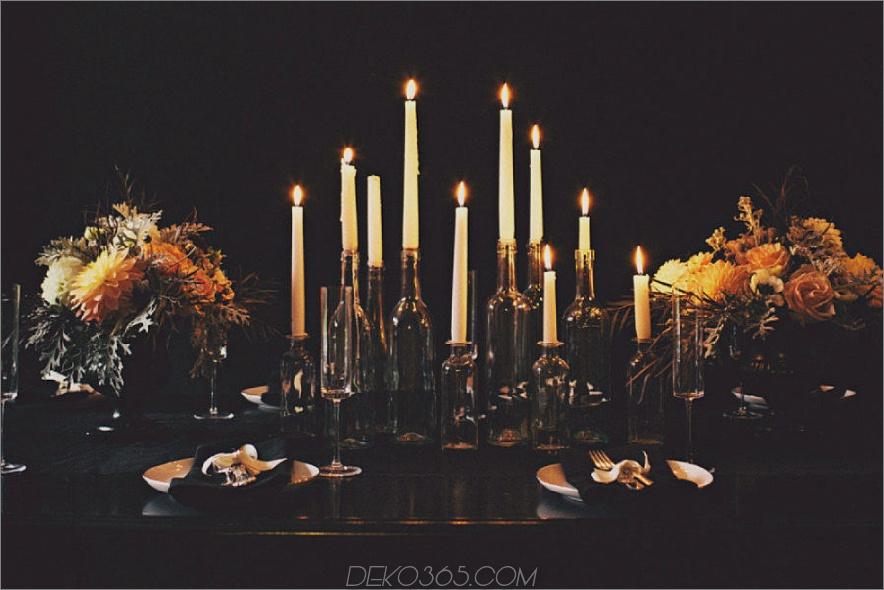 Eleganter Halloween-Tisch