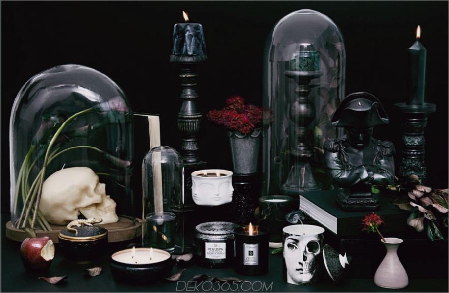 Schwarze Kerze Halloween-Tischdekorationen