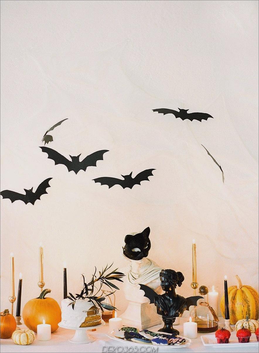 Einfache Halloween-Tischanzeige
