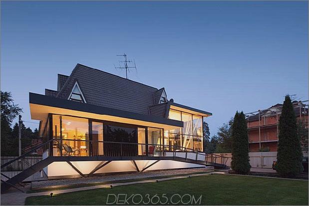 modernes Landhaushaus mit gewölbten Dachgeschosszimmern 2 Vorderfassade thumb 630xauto 32556 Modernes europäisches Landhaushaus mit gewölbten Dachgeschosszimmern
