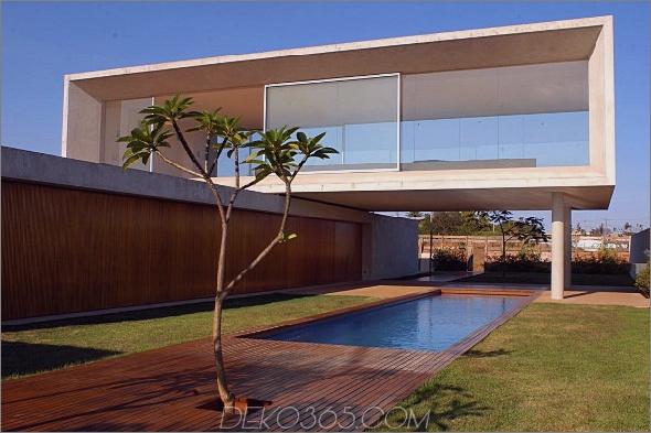 osler house 1 Modernes Haus in Brasilien In Osler House treffen sich Erde, Luft und Wasser
