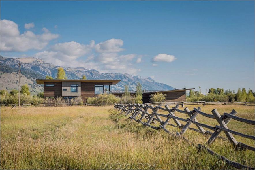 Shoshone Residenz erstreckt sich über 4500 Quadratmeter in der Nähe von Jackson Hole, Wyoming 900x600 Modern House in der Nähe von Wyoming Mountains, und profitiert von seiner Lage