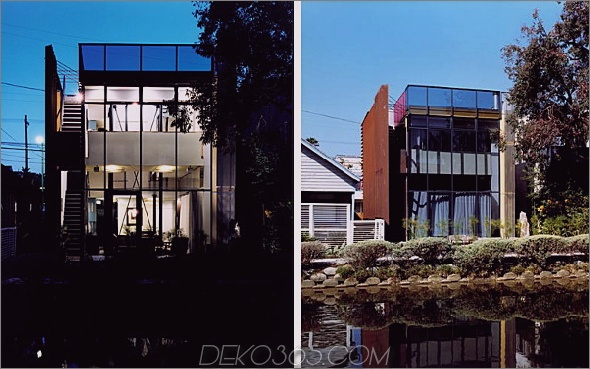 Zeitgenössisches Canal House Live / Work Space von Sander Architects