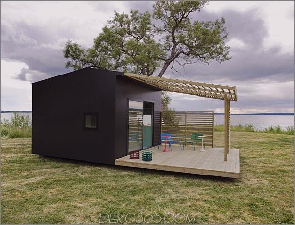 Mini-Haus 2 Modernes Mini-Haus macht den architektonischen Entwurf Jonas Wagell zu einem großen Eindruck in Schweden
