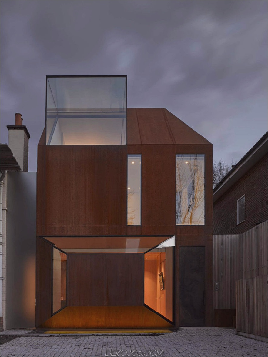 Cor-Ten House in Putney von Eldridge London