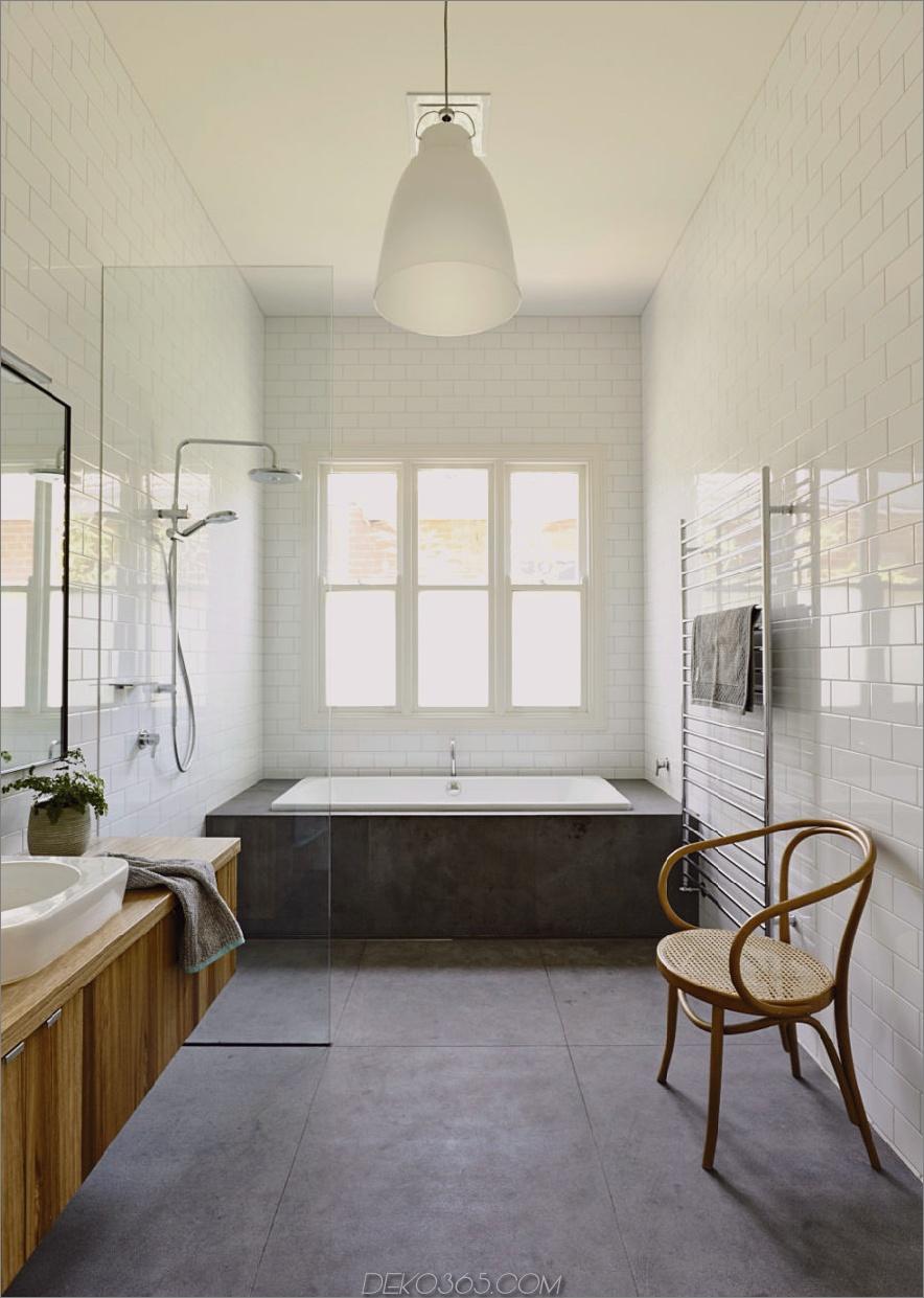 Bad aus Beton und Holz