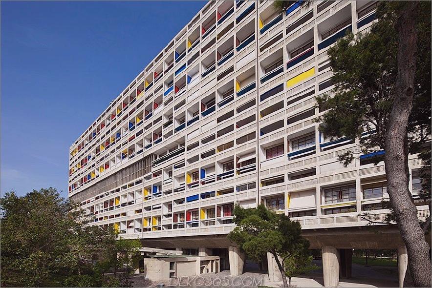 Die Cité Radieuse, Marseille, Frankreich