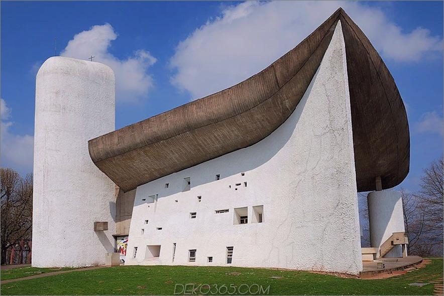 Notre Dame du Haut, Ronchamp, Frankreich, 1954