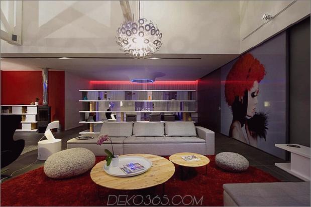 Modisches französisches Loft mit offenem Interieur und farbenfroher Beleuchtung 2 thumb 630x420 28685 Modisches französisches Loft mit offenem Interieur und farbenfroher Beleuchtung