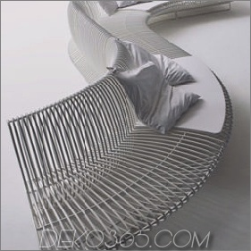 Modulares Sitzmöbel im Freien und Modulares Outdoor-Sofa von Bonacina Pierantonio