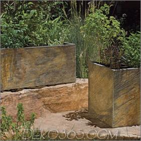 Schiefer-Pflanzgefäße von Stone Forest - Pflanzkollektion für den Außenbereich