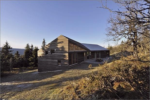 Ferienhütte Berge Landschaftskonturen entworfen 2 Fassade Thumb 630xauto 47762 stufiges Gelände Haus Design in den Bergen von Norwegen
