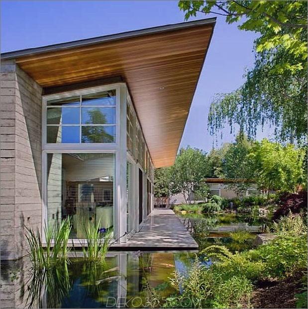 nachhaltiges Zuhause Künstlicher Teich üppige Landschaftsgestaltung 1 Teich thumb 630x632 46802 Nachhaltiges Zuhause umschließt den künstlichen Teich und die üppige Landschaftsgestaltung