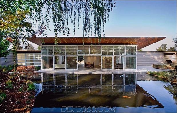 Nachhaltiges Zuhause Künstlicher Teich üppige Landschaftsgestaltung 2 Teich thumb 630xauto 46804 Nachhaltiges Zuhause umschließt den künstlichen Teich und die üppige Landschaftsgestaltung