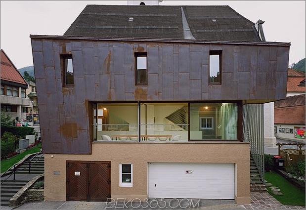 österreichisches Haus mit Kupferfassade und abgeschrägter Form 2 thumb 630x432 14307 Österreichisches Haus mit Kupferfassade und abgeschrägter Form