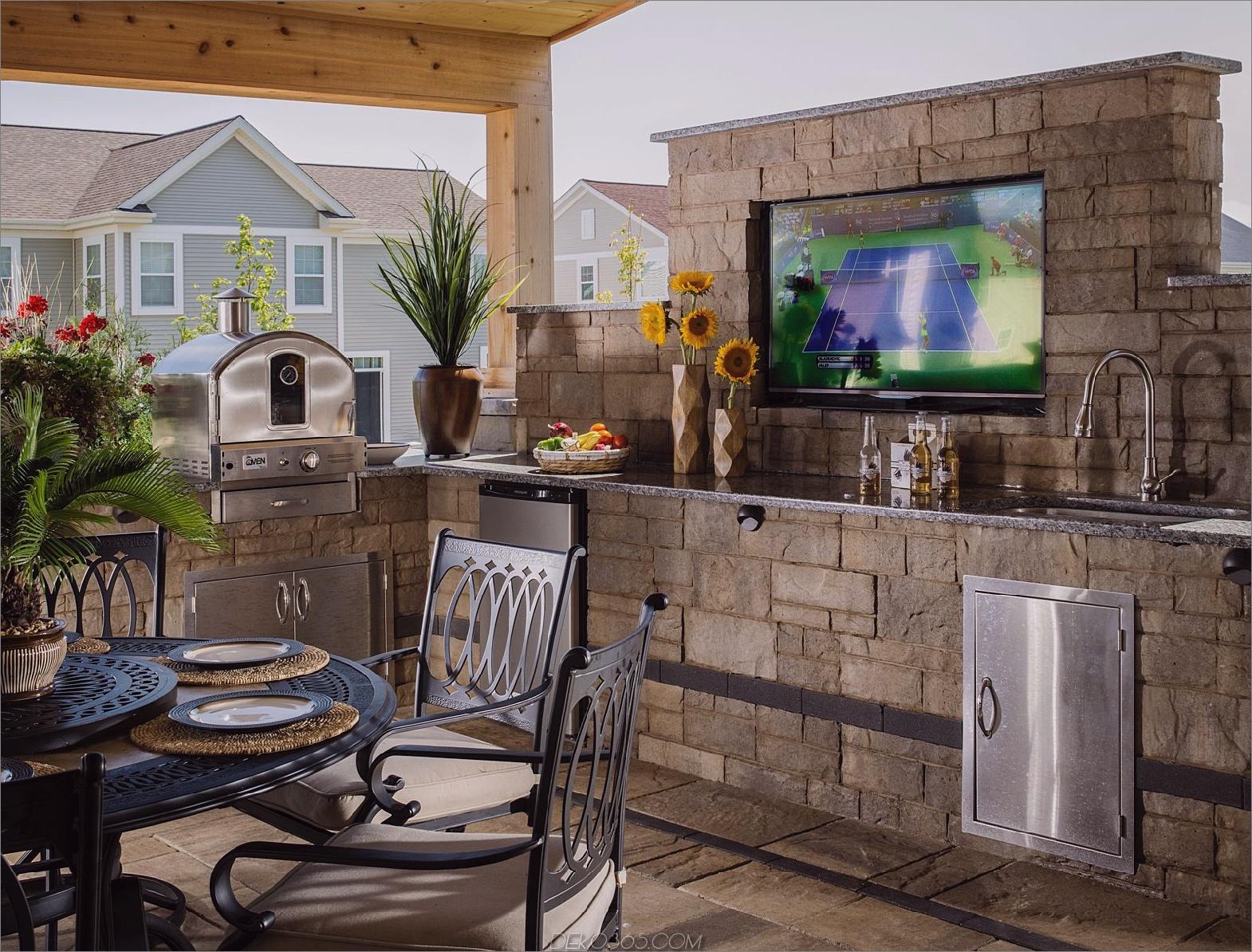 rustikale Outdoor-Küche Outdoor-Küche Ideen, die Sie sabbern lassen
