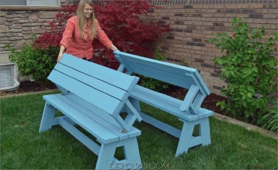 Pincnic Tisch zu Bench