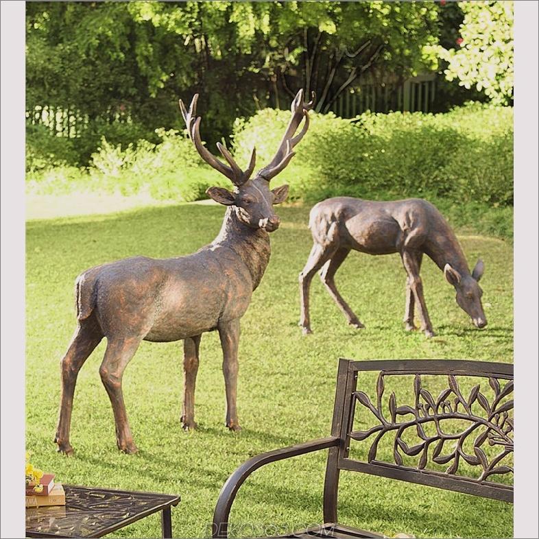 Fiberglas Deer Statuen