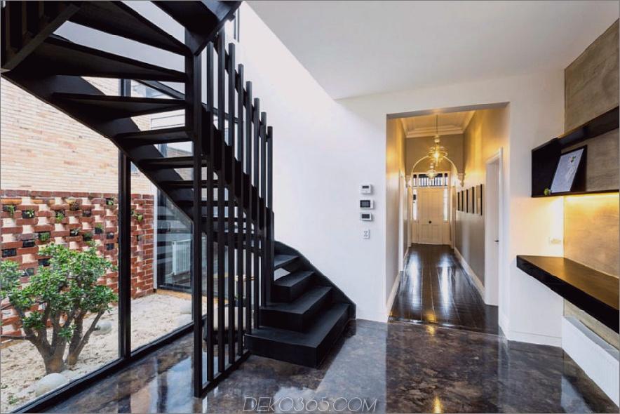 Eine architektonische Treppe et ein gestalterisches Element im Flur