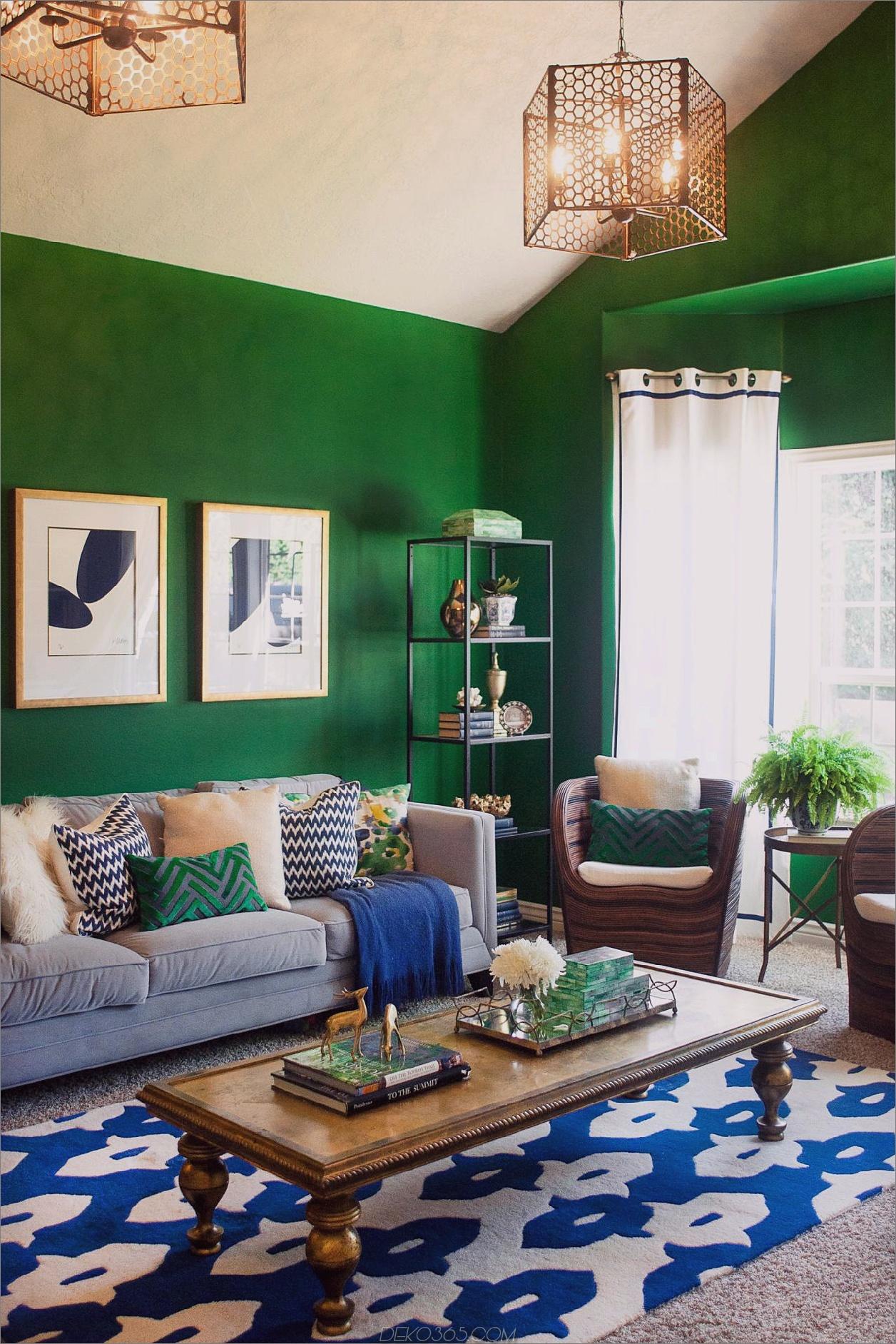 kelly green Retro-Farbtöne, die ein riesiges Dekor-Comeback bewirken