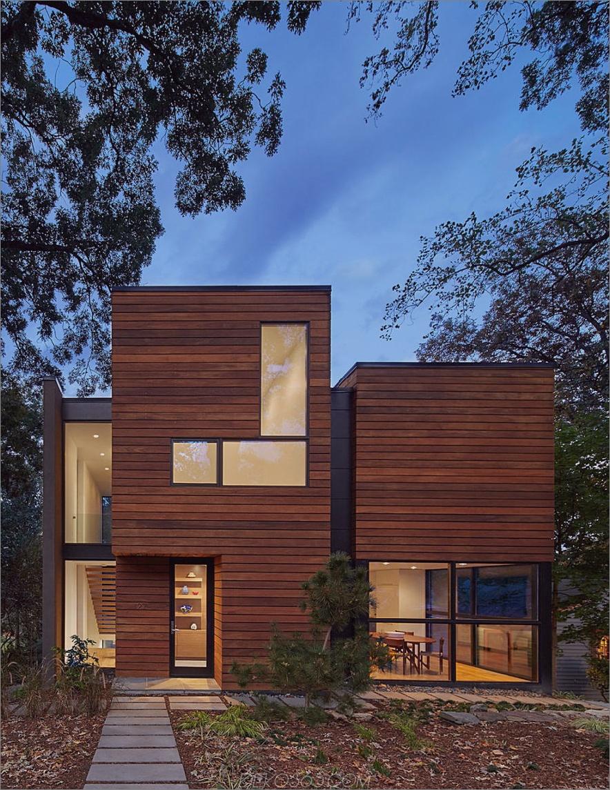 Glaseinschlüsse lassen das Haus wirklich modern aussehen