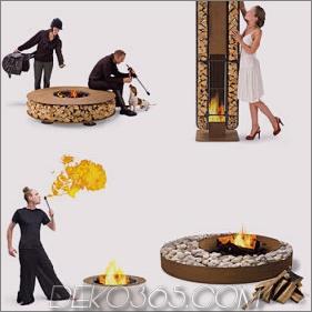 Outdoor Wood Fireplace - cooles, modernes Design von AK47