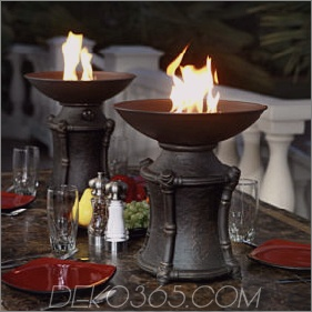 Fire Urns von Agio - Ideen für das Essen im Freien