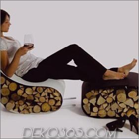 Modern Firewood Rack - Brennholzlagerung als Stuhl von AK47
