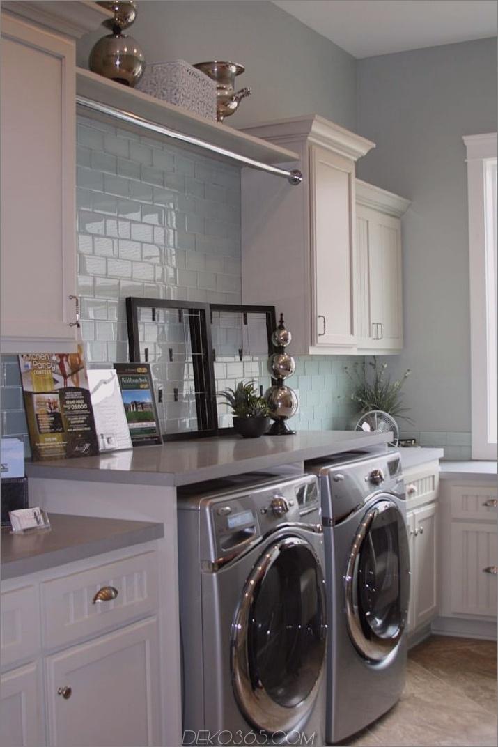 sky blue Waschküche Schicke kleine Waschküche Ideen, die Sie sehen müssen