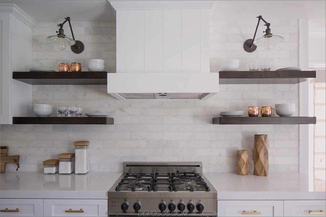 offene regale einfache schicke küchen mit offenen regalen