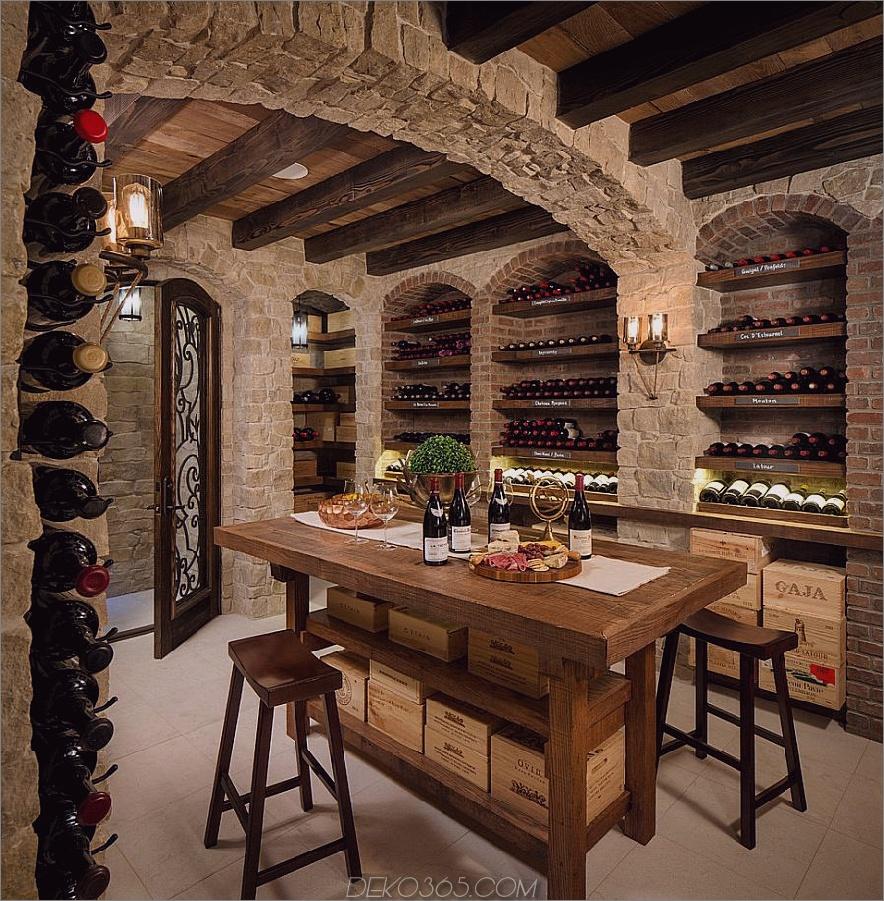 rustikaler hause keller Chic Ways to your Wine Room