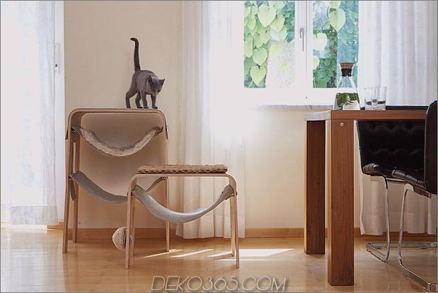 2 schicke kuschelige Katzenbetten moderne Häuser thumb 630xauto 60031 Schicke und gemütliche Katzenbetten: 20 moderne Ideen