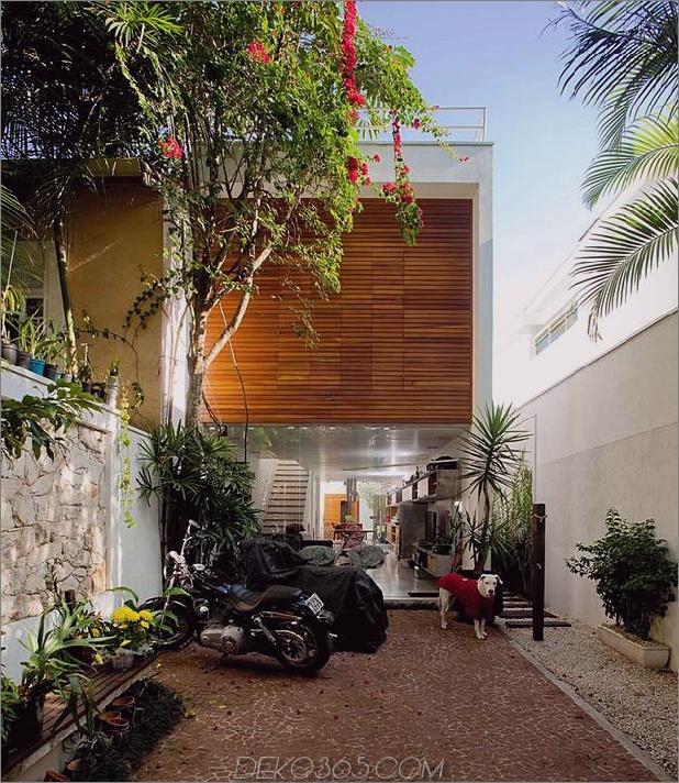 Brasilien Haus mit offenem linearem Layout und Holzloft 1 thumb autox725 42670 Schmaler und langer Hausplan für schöne, ergonomische Innenräume