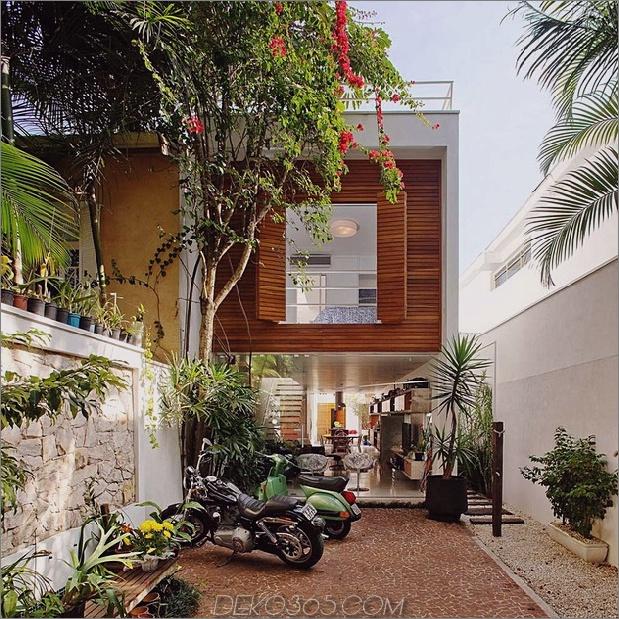 Brasilien-Haus mit offenem linearem Layout und Holzloft 2 thumb 630xauto 42672 Schmaler und langer Hausplan für schöne, ergonomische Innenräume