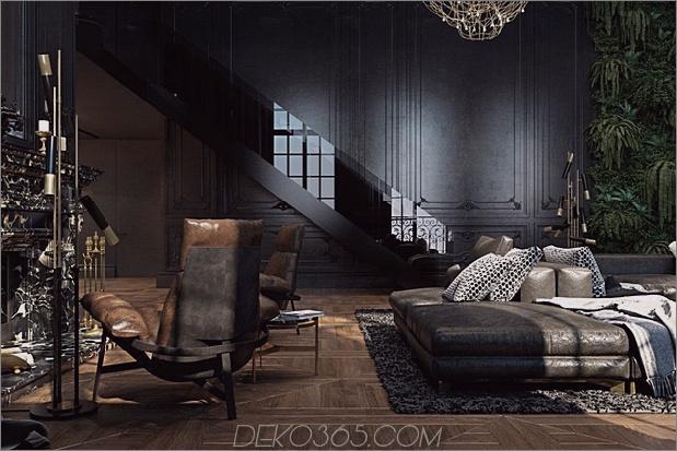 1 historisches Apartment schwarzes Interieur thumb 630xauto 62556 Schönes schwarzes Interieur In einem historischen Pariser Apartment gezeigt