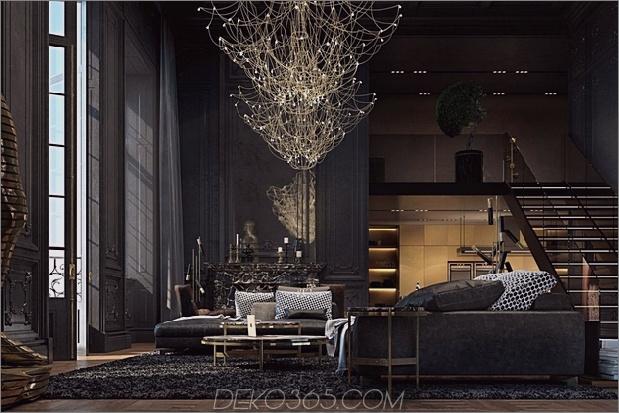 Schönes schwarzes Interieur in einem historischen Pariser Apartment_5c58df24bca8e.jpg