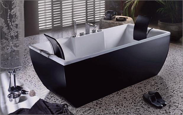 Schwarze Badewannen für moderne Badezimmerideen mit freistehender Installation_5c590ca3eae6d.jpg