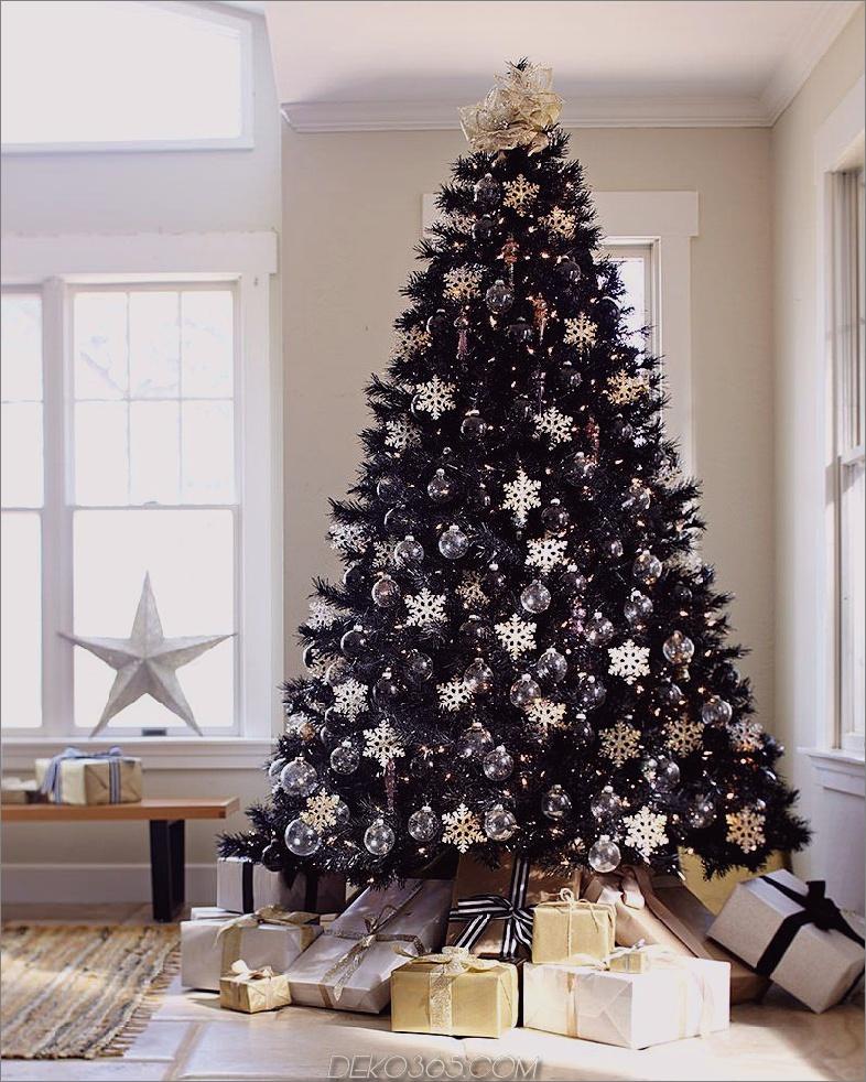 gold black tree Schwarze Weihnachtsbäume, die Ihrem Dekor eine verwegene Wendung bringen