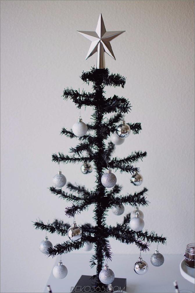 winzige christas baum schwarz Schwarze Weihnachtsbäume, die Ihrem Dekor eine verwegene Wendung bringen