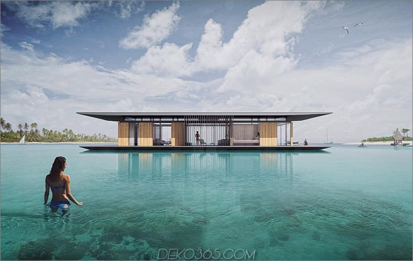 Modernes schwimmendes Haus von Dymitr Malcew