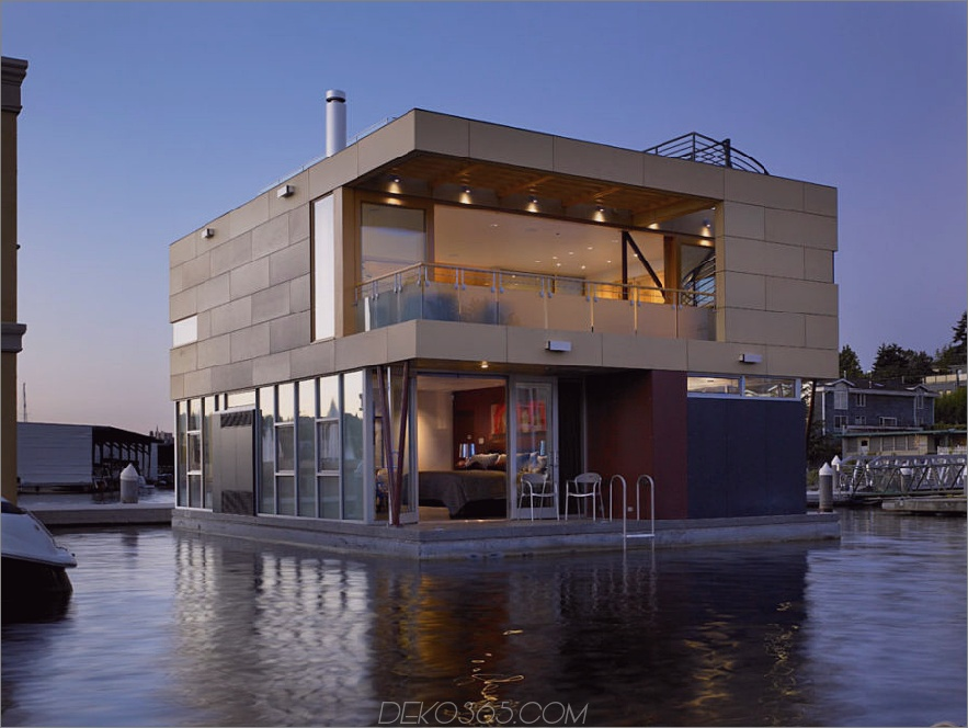 Floating Home in Seattle von Vandeventer + Carlander Architects,